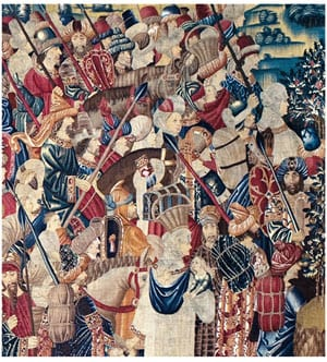 Probably produced under the direction of Passchier Grenier, tapestry merchant, Tournai (Belgium), detail, 1470s, Fall of Tangier (detail),1475-1500, wool and silk