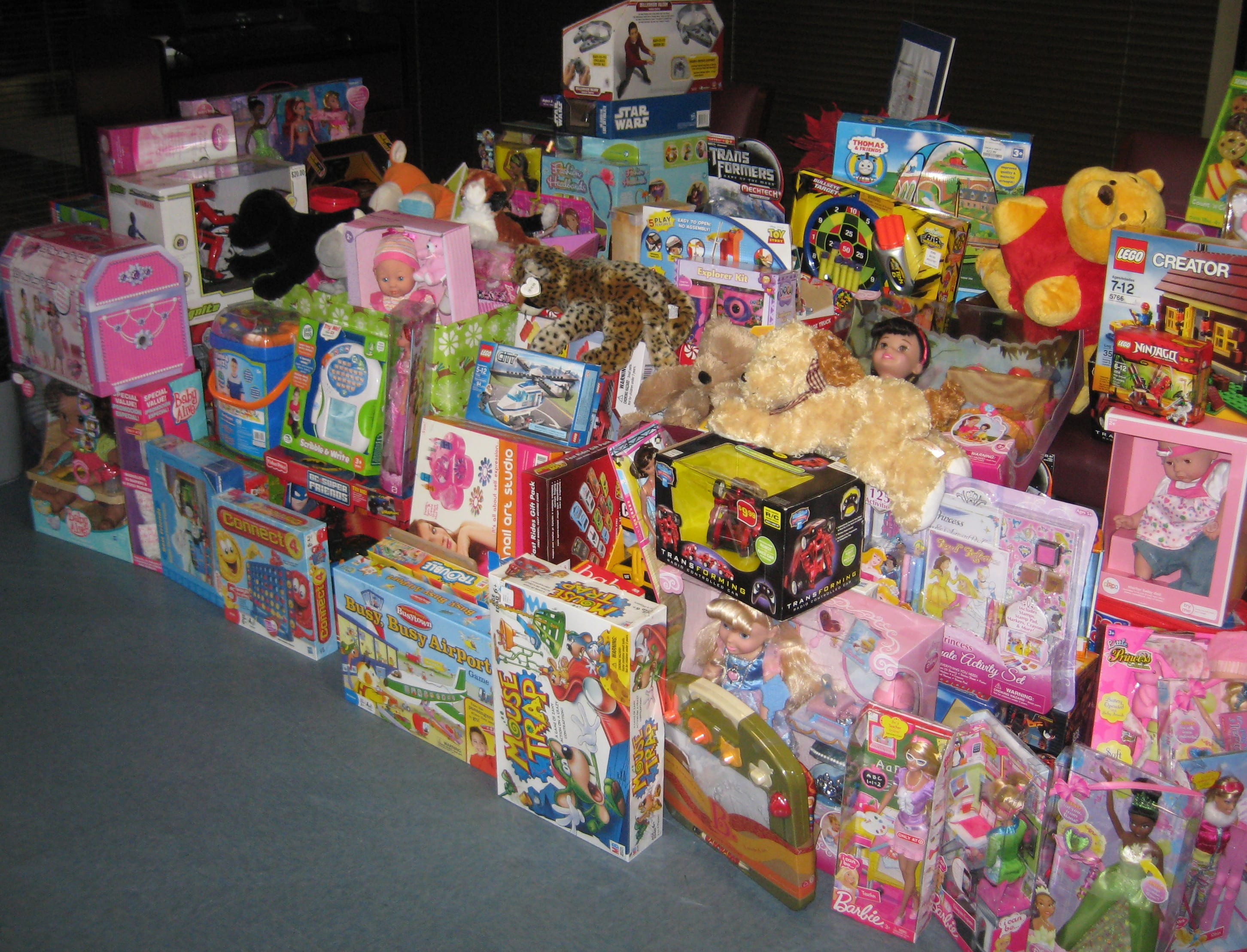 Toys collected for Children's Medical Center in SMU's 2011 Toys for Tickets holiday program