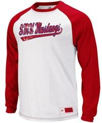 adidas SMU Mustangs raglan shirt