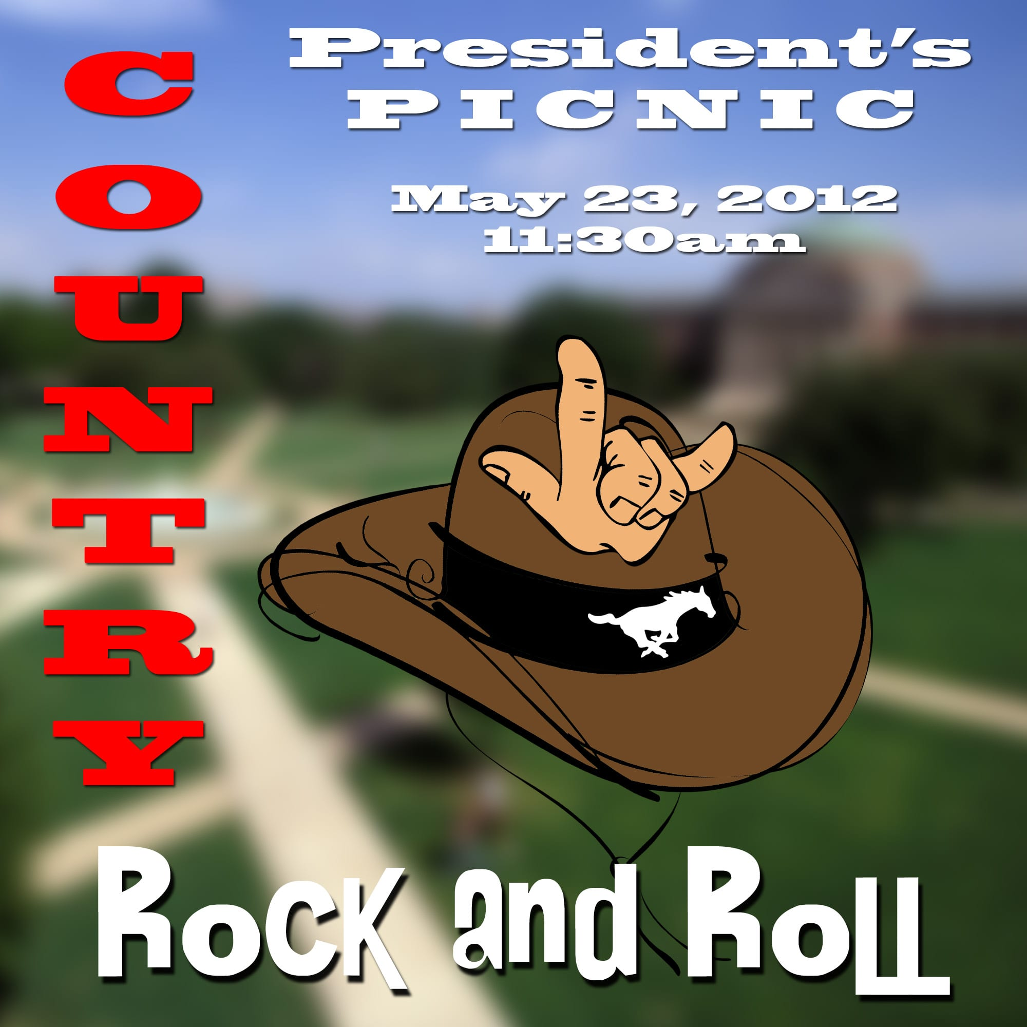 SMU Staff Association 2012 President's Picnic postcard