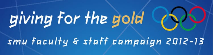 Faculty-Staff Campaign 2012-13 'Giving For the Gold' logo