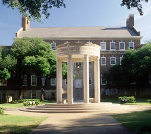 The Umphrey Lee Tempietto in SMU's Dedman School of Law Quad