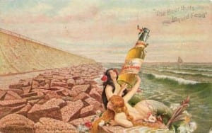 Beer advertising art from the turn of the the 20th century