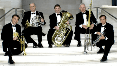The DSO Brass Quintet (image courtesy of DSO)
