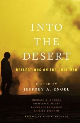 Book cover for 'Into the Desert,' edited by Jeffrey Engel