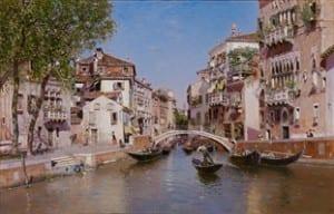 Martín Rico y Ortega (Spanish, 1833-1908), Rio San Trovaso, Venice, c. 1903.