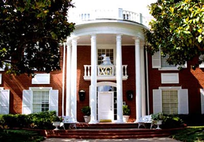 SMU Chi Omega House at 3014 Daniel Avenue