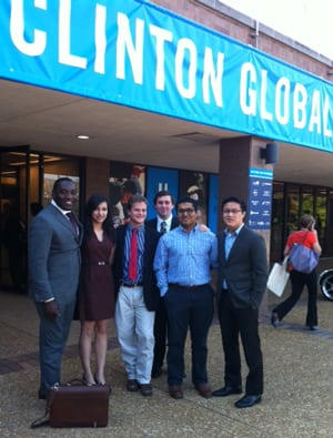 SMU students at the 2013 Clinton Global Initiative University meeting in St. Louis