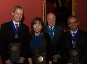 SMU 2013 Ford Research Fellows Thomas Ritz, Bonnie Jacobs, Michael Corris and Suku Nair