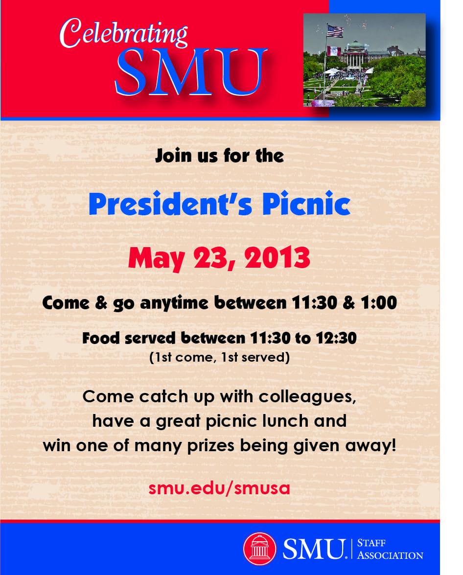 SMUSA President's Picnic flyer 2013