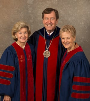 Kay Hutchison, R. Gerald Turner and Swanee Hunt, SMU Honorary Degree Portraits 2013 by Hillsman S. Jackson