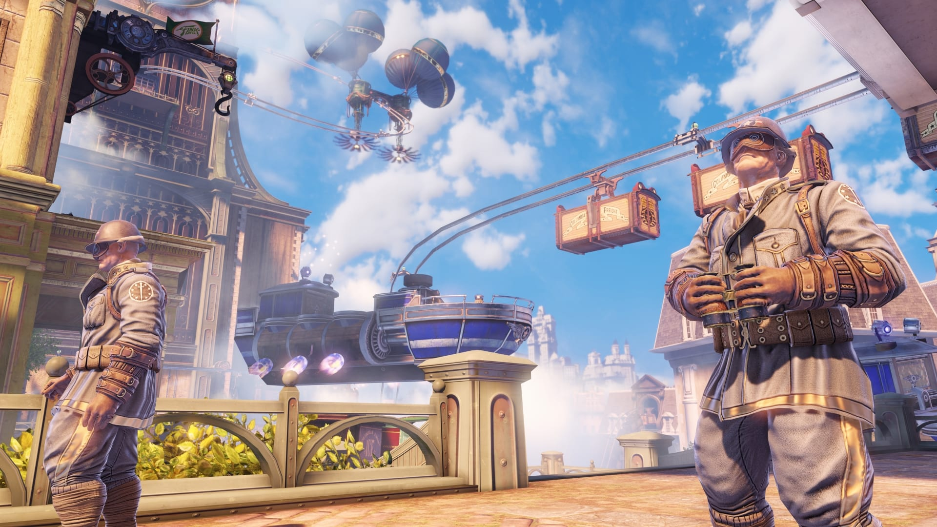 The vividly imagined floating city of Columbia, circa 1912, is the setting for Bioshock Infinite. The latest game in the critically acclaimed series tops The Guildhall at SMU's 2013 Top 10 Gifts for Giving list.