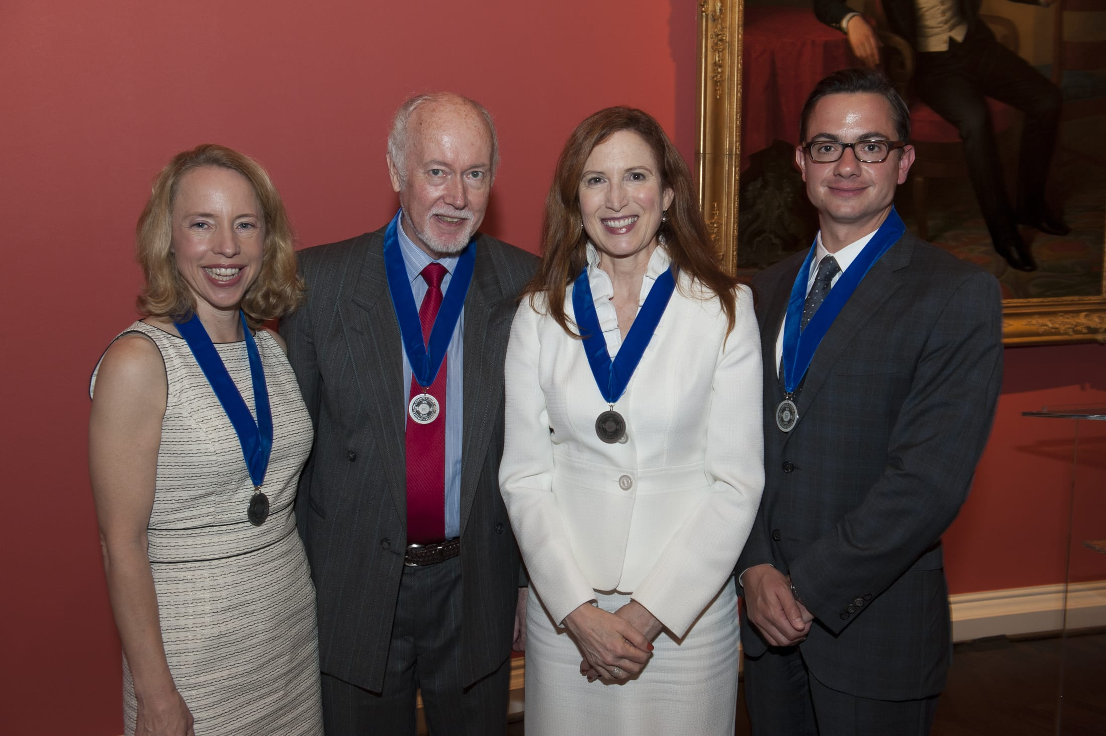 SMU named four 2014 Ford Research Fellows at a meeting of its Board of Trustees Thursday, May 8 (l to r): Alexis McCrossen, Dieter Cremer, Alyce McKenzie and Anthony Colangelo. Photo credit: SMU/Hillsman S. Jackson.