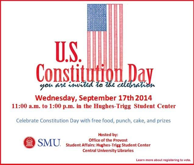 SMU Constitution Day 2014 flyer