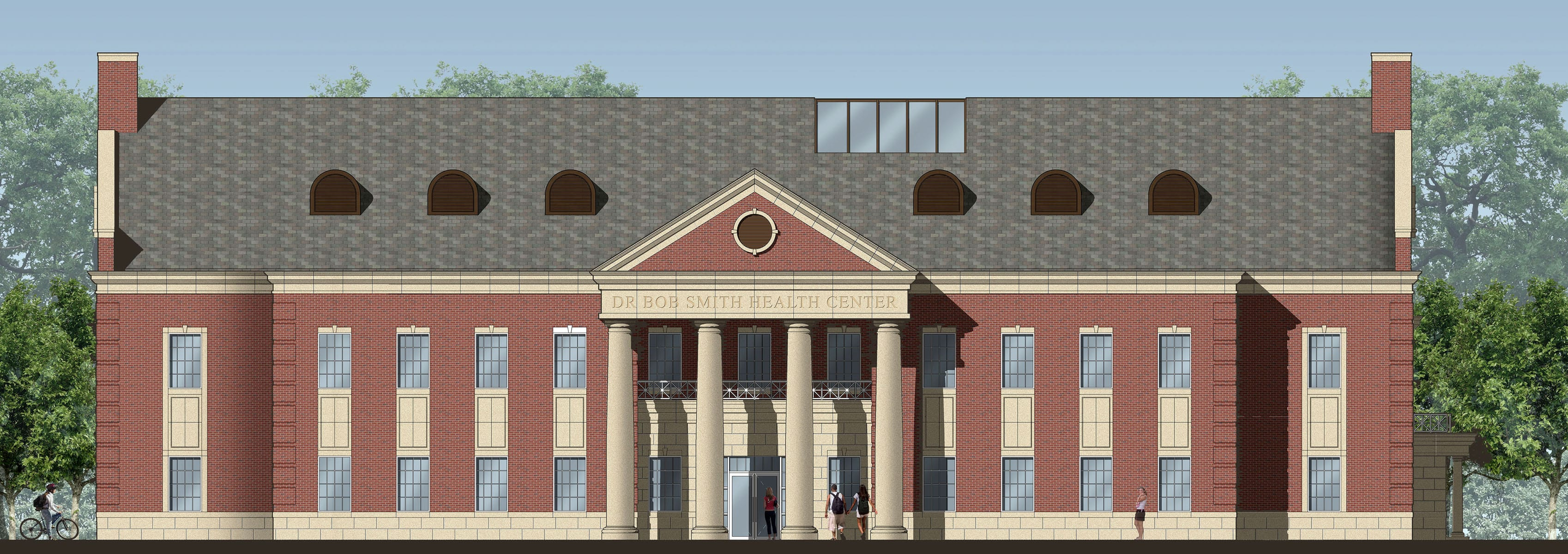 Artist's rendering of the Dr. Bob Smith Health Center at SMU