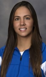 SMU Women's Swimming & Diving. Senior Isabella Arcila.