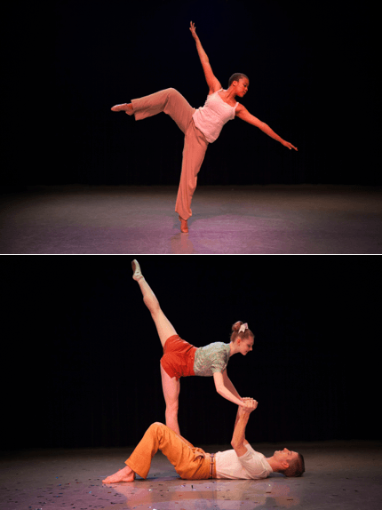 Photographs from the 2015 Spring Dance Concert Rehearsal, taken by Kim Leeson.
