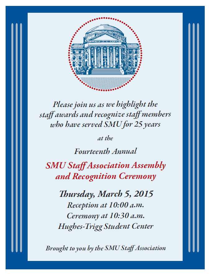 2015 SMU Staff Recognition Ceremony