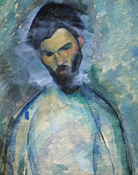 Amedeo Modigliani (Italian, 1884-1920), Portrait of Constantine Brancusi (verso of previous image), 1909. Oil on canvas. P67 – 6/1987, Archive Abelló Collection (Joaquín Cortés).