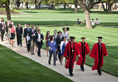 SMU Honors Convocation 2013 procession