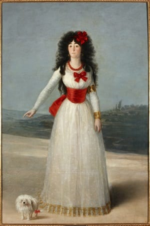 'The Duchess of Alba in White,' Francisco de Goya y Lucientes