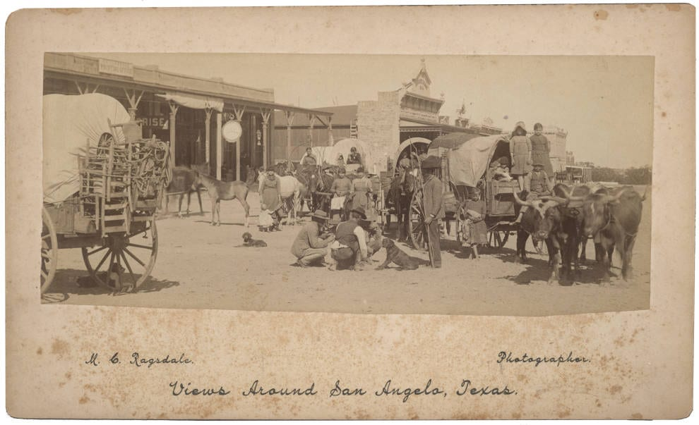 Immigrants going through San Angelo, Texas - early photograph, Lawrence T. Jones III Texas Photography Collection