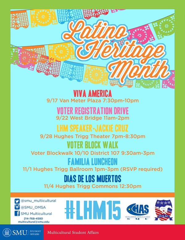 SMU Latino Heritage Month 2015
