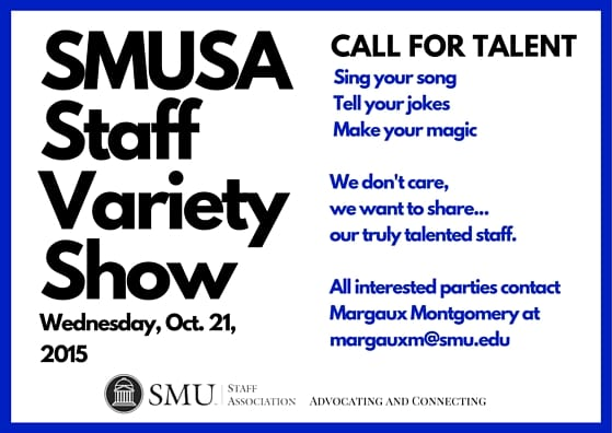 SMUSA Variety Show call for talent 2015