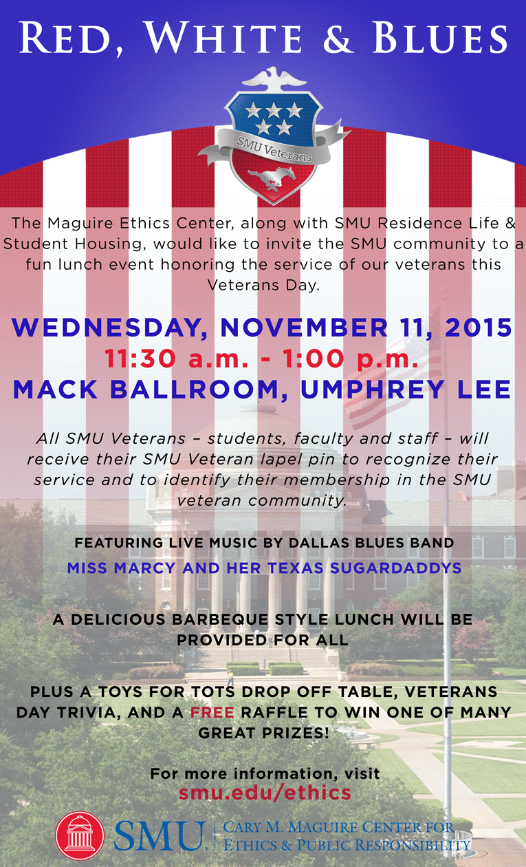SMU Veterans Day 2015 graphic