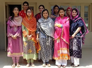 Workshop participants at Shaheed Benazir Bhutto Women University