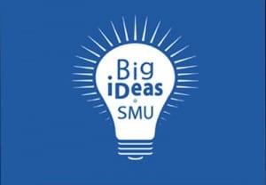 SMU Big iDeas logo, blue background-400