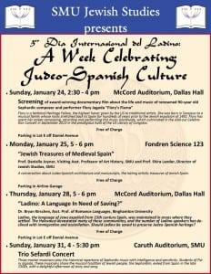 Judeo-Spanish Culture Week 2016 flyer