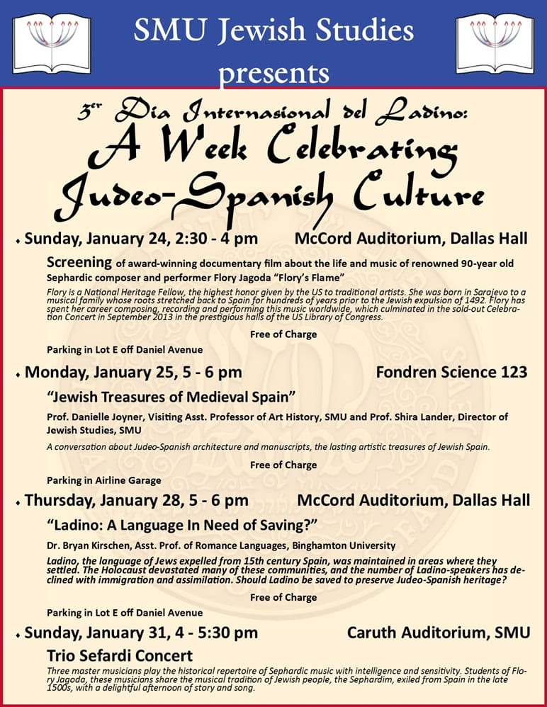 Judeo-Spanish Culture Week 2016 flyer