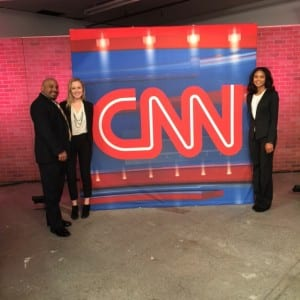 SMU students at CNN