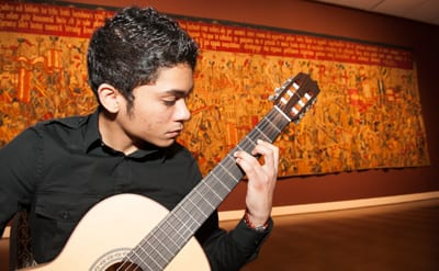 Guitarist in Meadows Museum, SMU Founders' Day 2015