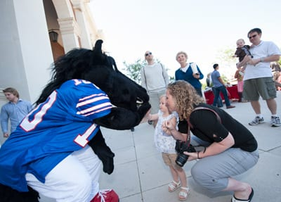 Peruna mascot at SMU Founders Day 2015