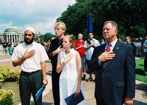Scene at the SMU flagpole on Sept. 11, 2001