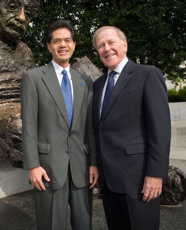 Fred Chang and Bobby B. Lyle, National Academy of Engineering induction