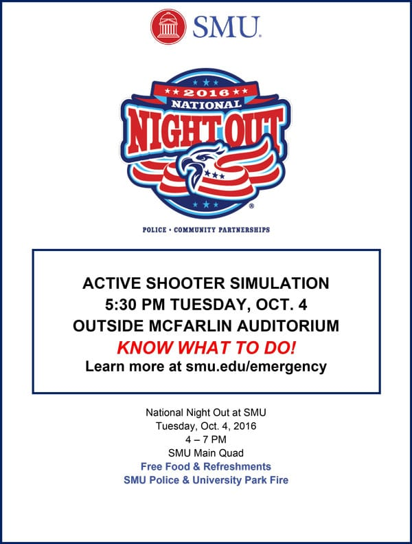 National Night Out 2016 poster