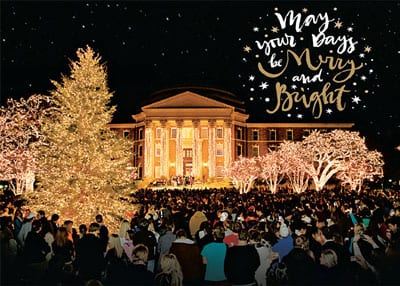SMU holiday card 2016, front