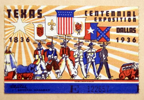 1936 State Fair of Texas ticket