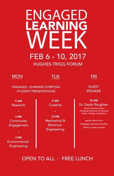 Engaged Learning Week 2017
