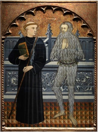 'Saints Benedict and Onuphrius' by Pere Vall