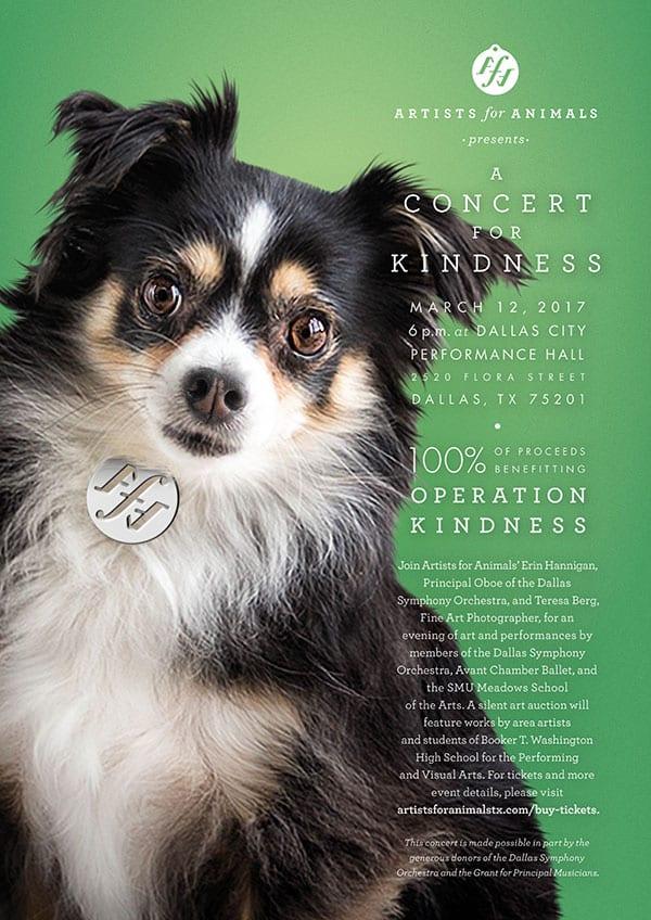 A Concert for Kindness benefit concert for Operation Kindness poster