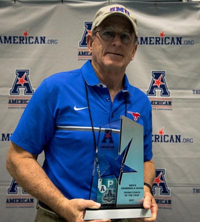 Jim Stillson, AAC Diving Coach of the Year 2017