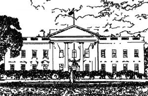 White House, line drawing