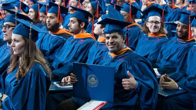 Commencement graduate shot