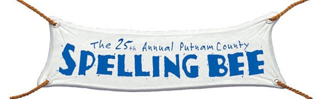 'The 25th Annual Putnam County Spelling Bee' logo