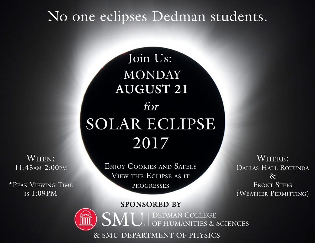 SMU Dedman College Solar Eclipse Event