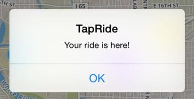 TapRide screencap